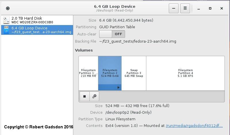 Fedora 23 Image
